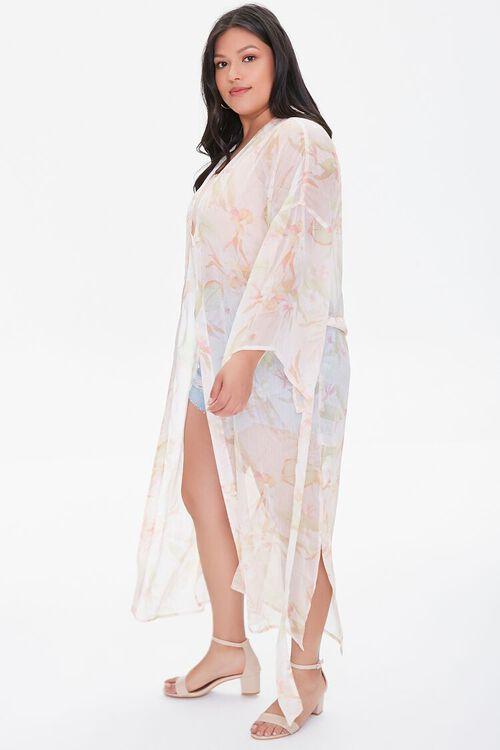 Plus Size Tropical Floral Kimono, image 2