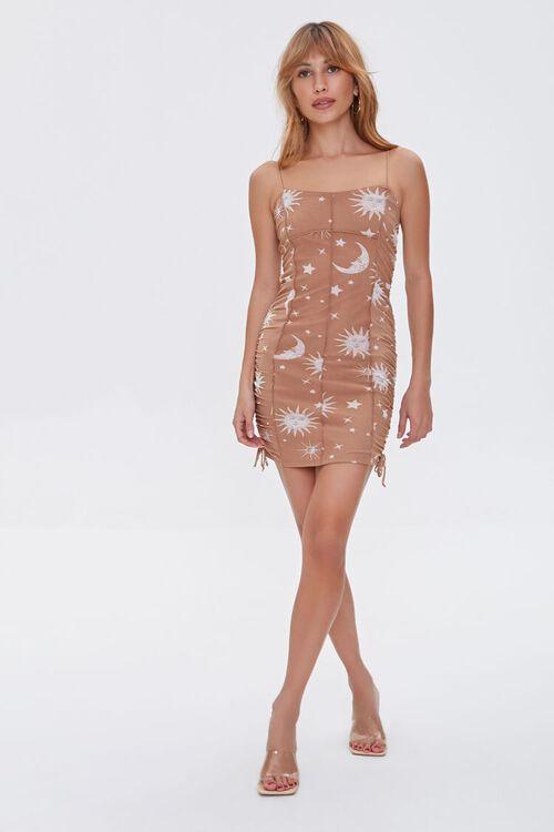 Celestial Print Cami Mini Dress, image 4