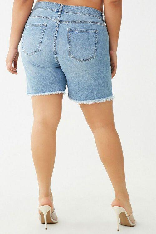 Plus Size Frayed-Trim Bermuda Shorts, image 3