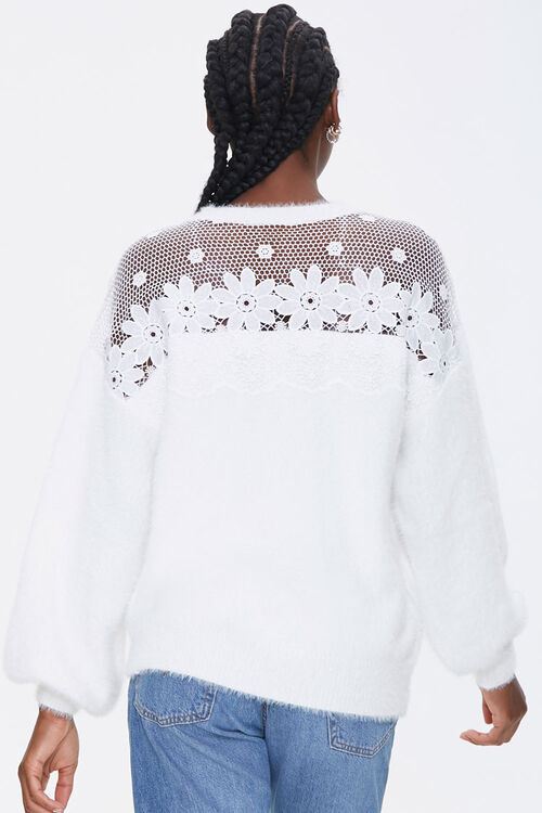 Floral Crochet Sweater, image 3