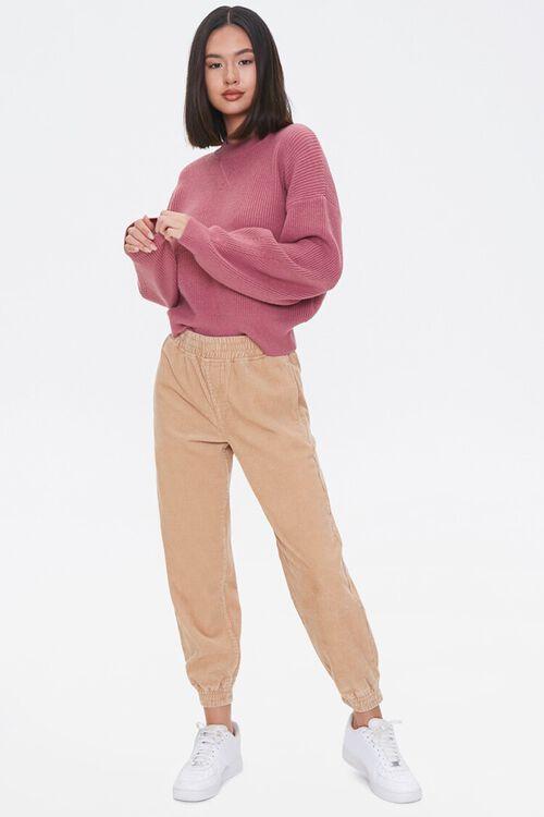 Ribbed Dropped-Sleeve Sweater, image 4