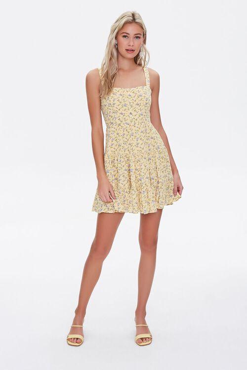 Floral Fit & Flare Mini Dress, image 4