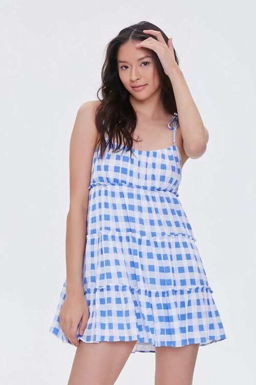 Buffalo Plaid Cami Mini Dress, image 1