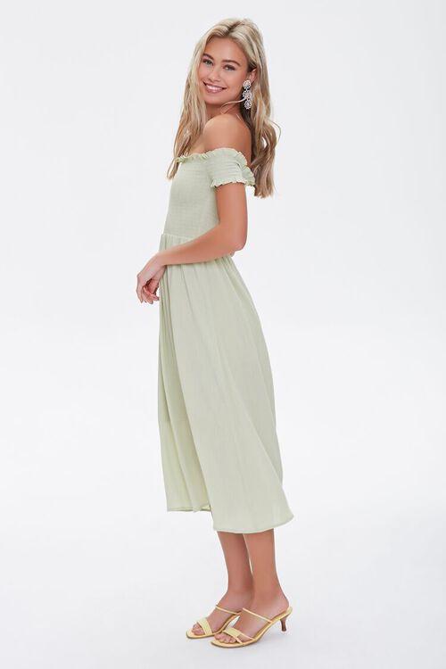 Smocked Off-the-Shoulder Dress, image 3