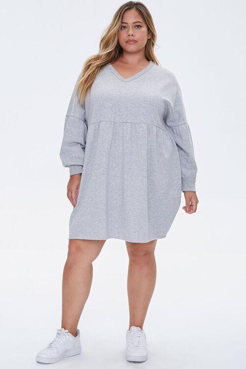 Plus Size Shirred Mini Dress, image 4