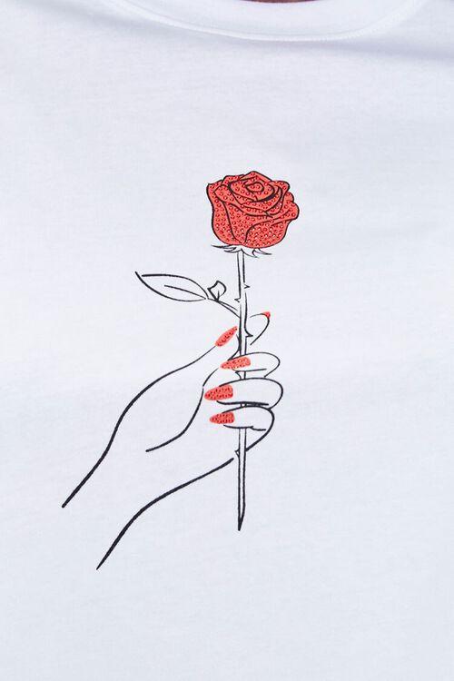 Rhinestone Rose Graphic Tee, image 5