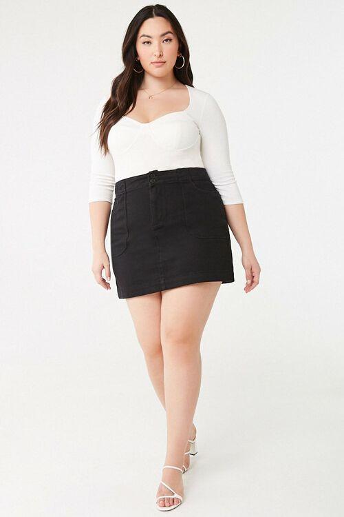 Plus Size A-Line Denim Skirt, image 5