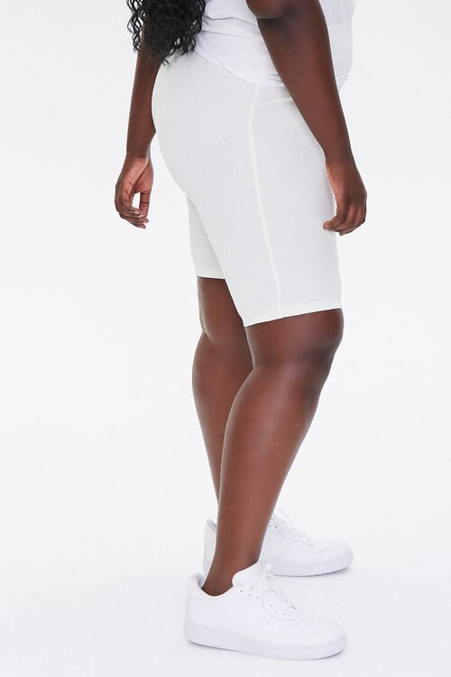 Plus Size Embossed Biker Shorts, image 3