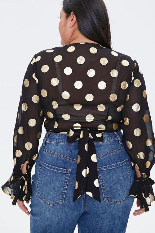 Plus Size Polka Dot Crop Top, image 3