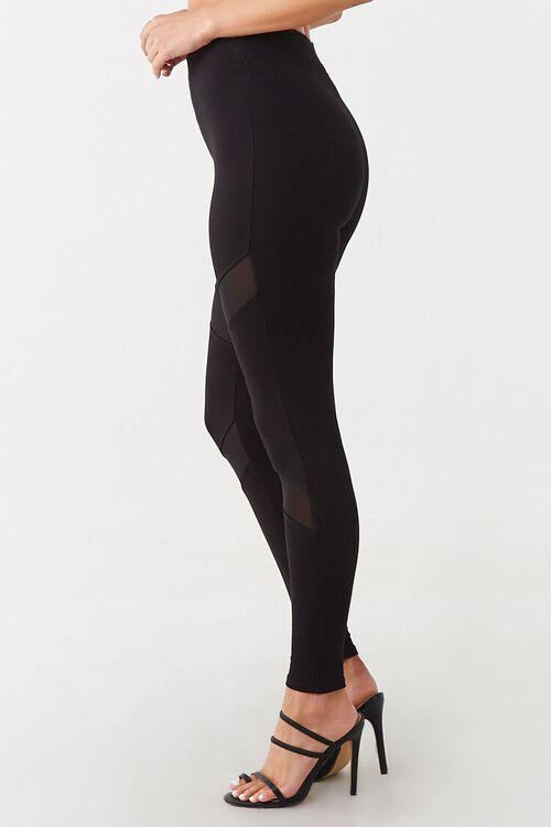 Sheer Mesh-Panel Leggings, image 2