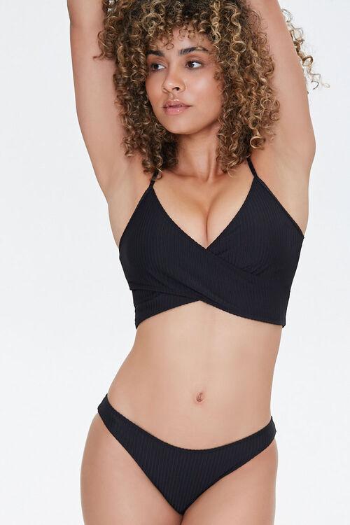 Ribbed Low-Rise Bikini Bottoms, image 1