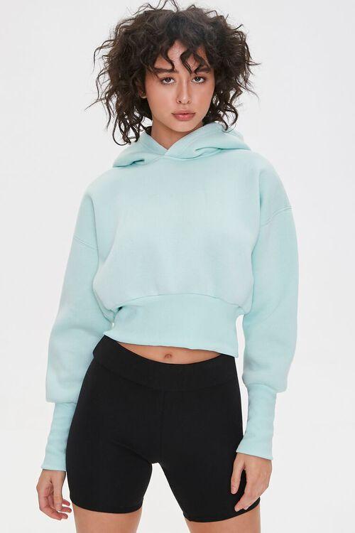 Fleece Drop-Sleeve Hoodie, image 1