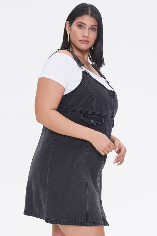 Plus Size Denim Overall Dress, image 2