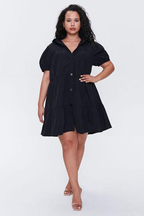 Plus Size Tiered Mini Dress, image 4