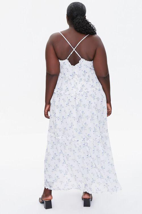Plus Size Floral Print Chiffon Dress, image 3