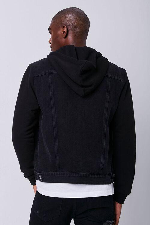 Contrast Hooded Denim Jacket, image 3