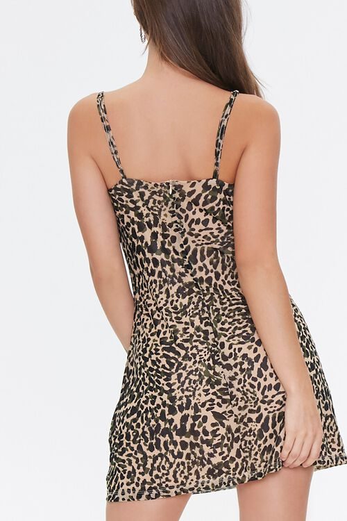 TAN/BLACK Cheetah Print Cowl Dress, image 3