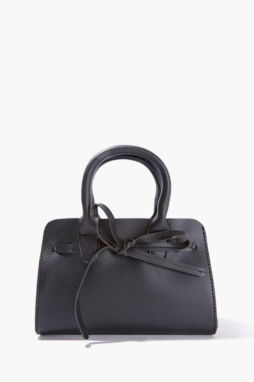Faux Leather Tie Satchel, image 1