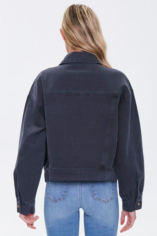 Denim Button-Front Jacket, image 3