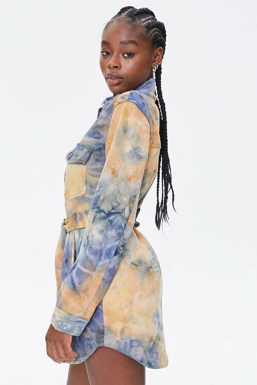 MUSTARD/BLUE Tie-Dye Shirt Jacket, image 2