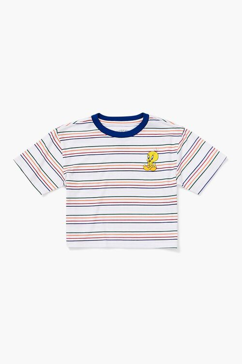 Girls Tweety Graphic Striped Tee (Kids), image 1