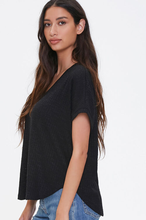 Ribbed Knit Dolphin Tee, image 2