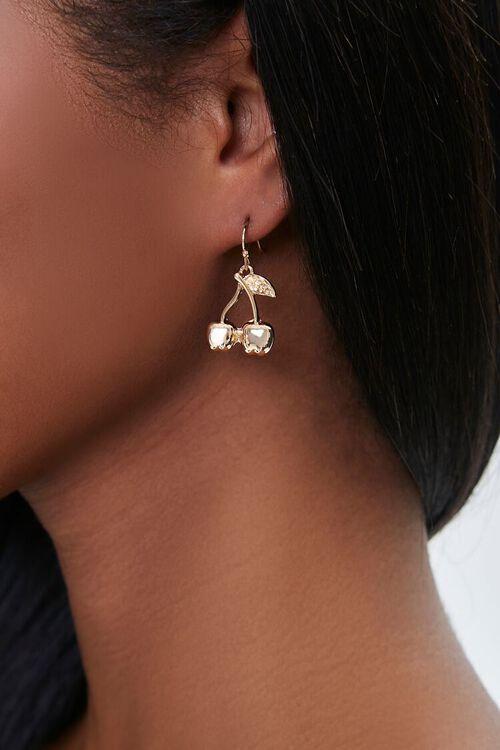 Cherry Pendant Drop Earrings, image 1