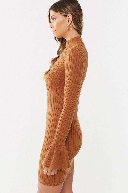 CAMEL Trumpet Sleeve Dress, image 2