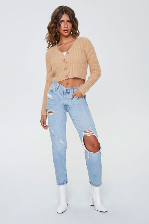 Cropped Cardigan Sweater, image 4