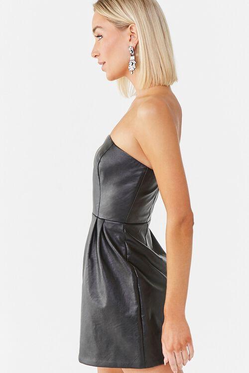 Faux Leather Mini Dress, image 2