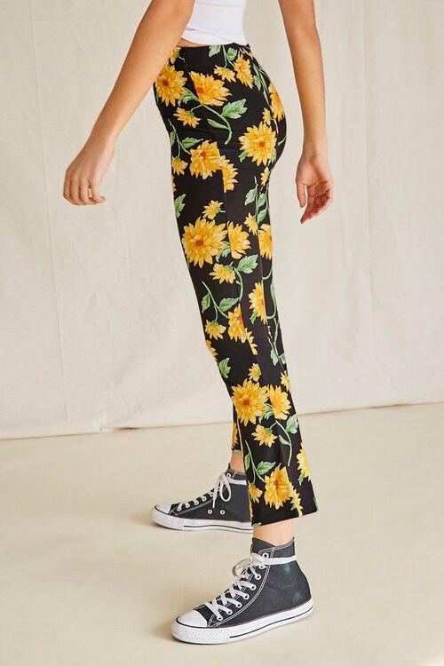 Sunflower Print Flare Pants, image 3