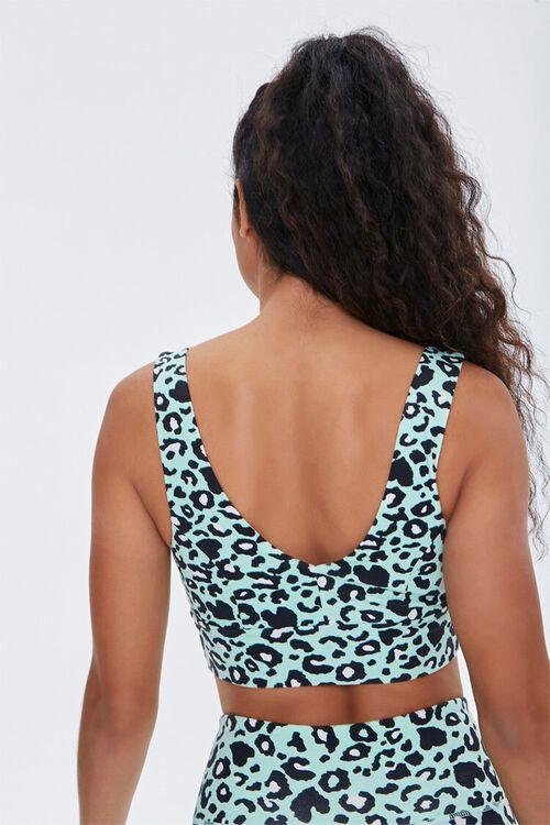 MINT/MULTI Leopard Print Sports Bra, image 3