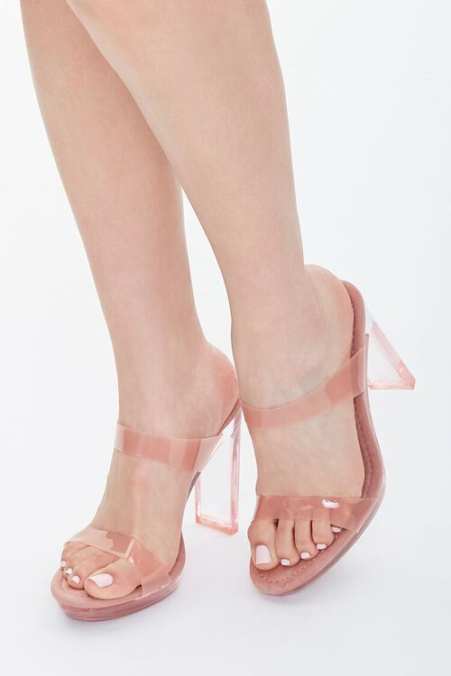 Semi-Translucent Lucite Block Heels, image 1