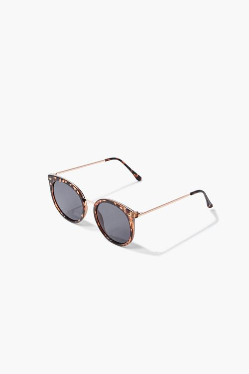 Tortoiseshell Round Sunglasses, image 4