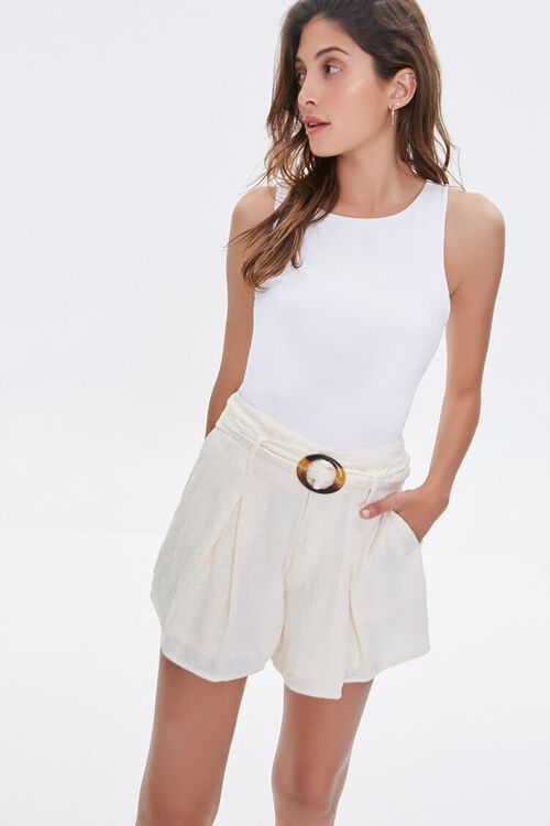 Tortoiseshell Belted Shorts, image 1