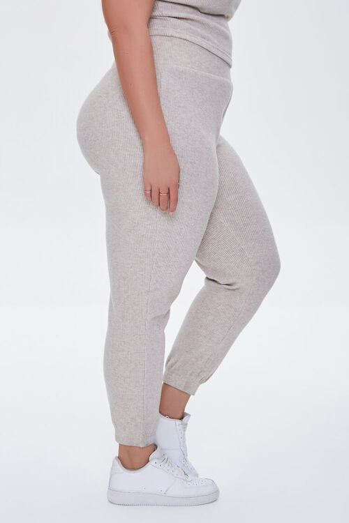 Plus Size Ribbed Knit Joggers, image 3