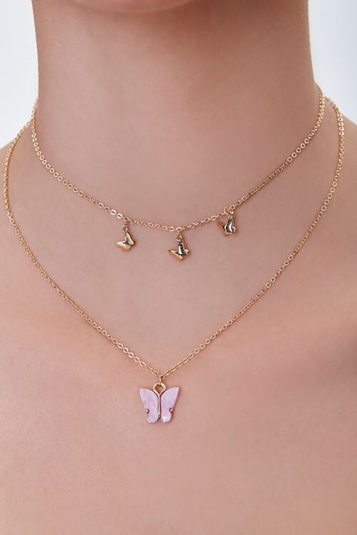 Butterfly Charm Layered Necklace, image 1