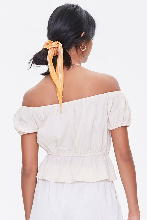 Off-the-Shoulder Puff Sleeve Top, image 3