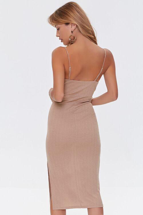 TAUPE Cami Slit Dress, image 3