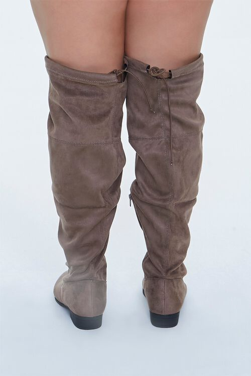 Faux Suede Thigh-High Boots (Wide), image 3