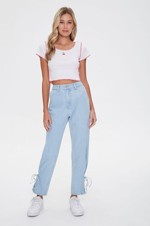 Lace-Up Mom Jeans, image 4