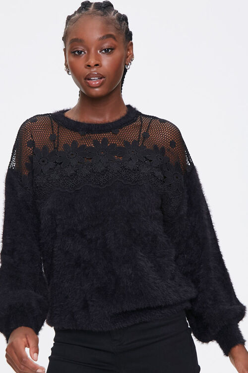 Floral Crochet Sweater, image 1