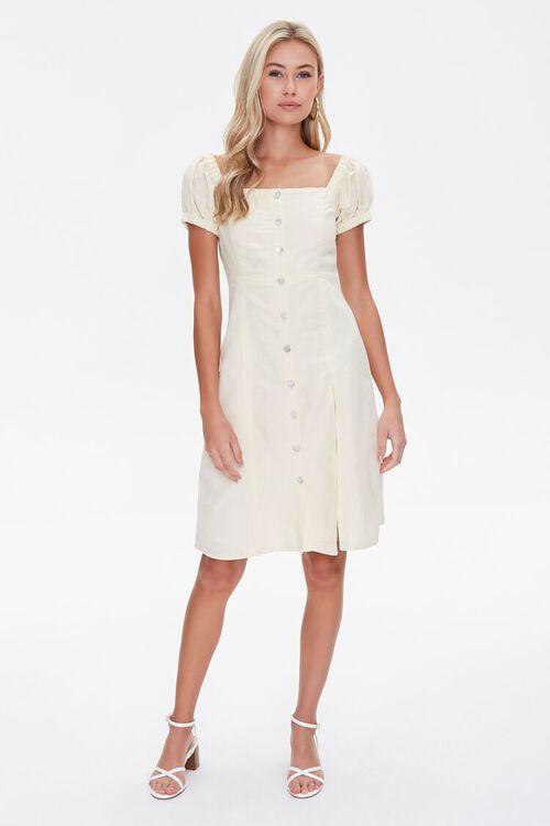 Linen Fit & Flare Dress, image 4