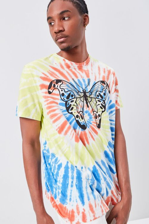 Butterfly Graphic Tie-Dye Tee, image 1