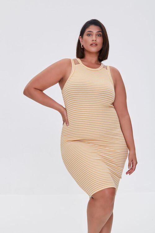 Plus Size Striped Mini Dress, image 1
