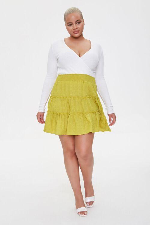 Plus Size Clip Dot Mini Skirt, image 5