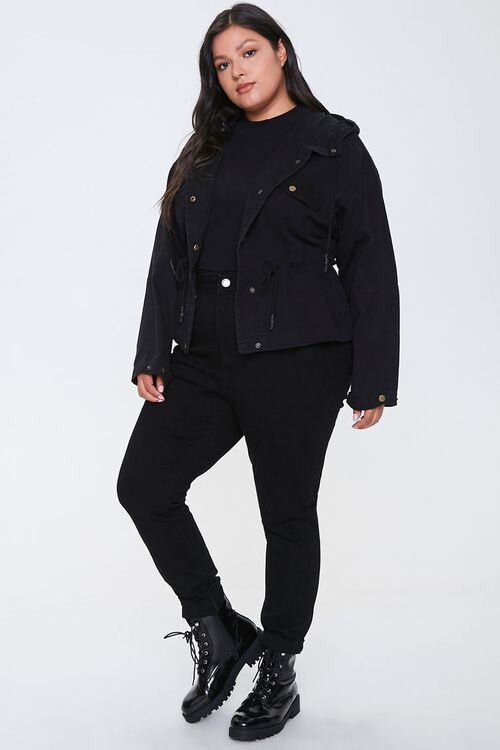 Plus Size Hooded Utility Jacket, image 4