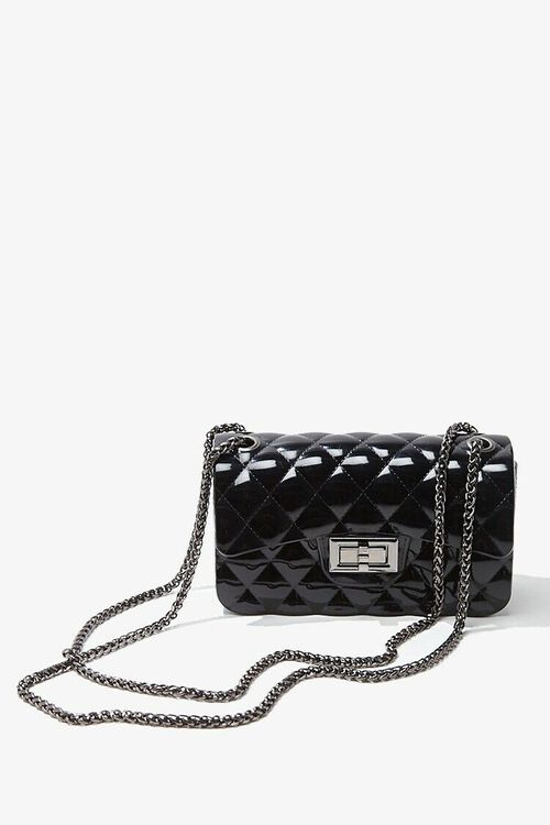 BLACK Mini Quilted Crossbody Bag, image 1