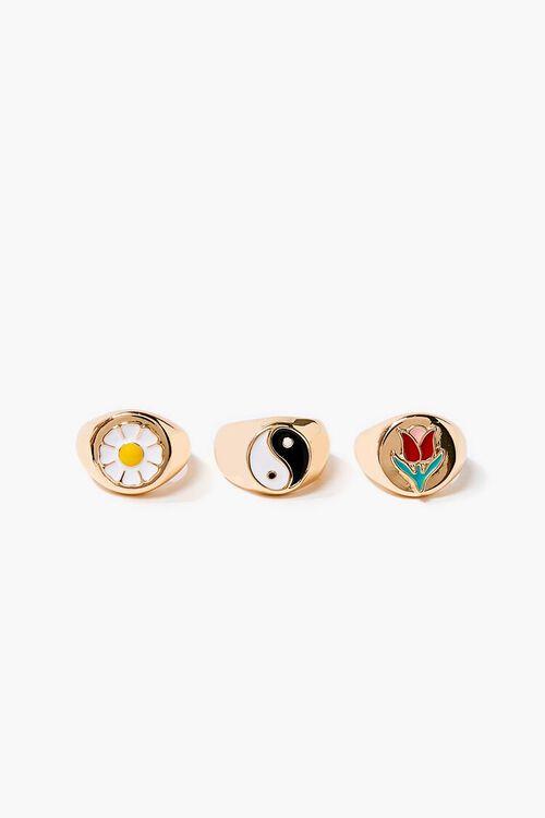 Yin Yang Charm Ring Set, image 2