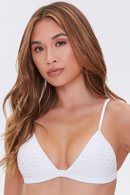 Mesh Triangle Bikini Top, image 1